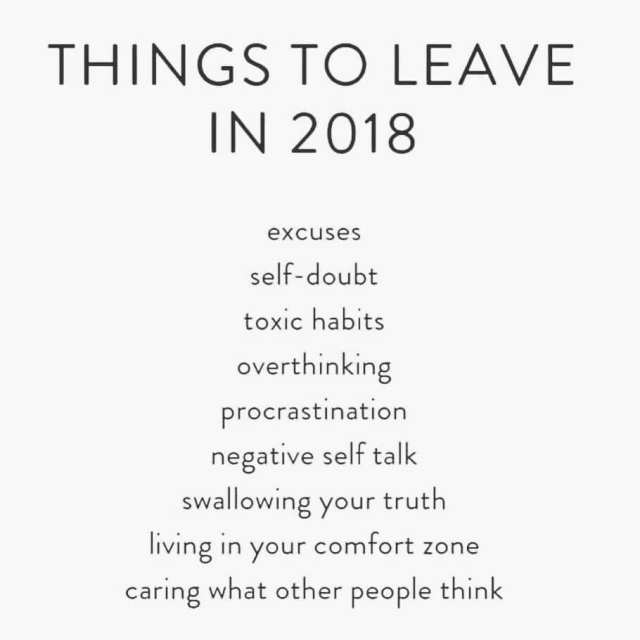 things to leave in 2018
